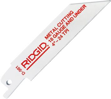 RIDGID Биметаллические полотна RIDGID для тонкостенных труб и листовой стали 80485