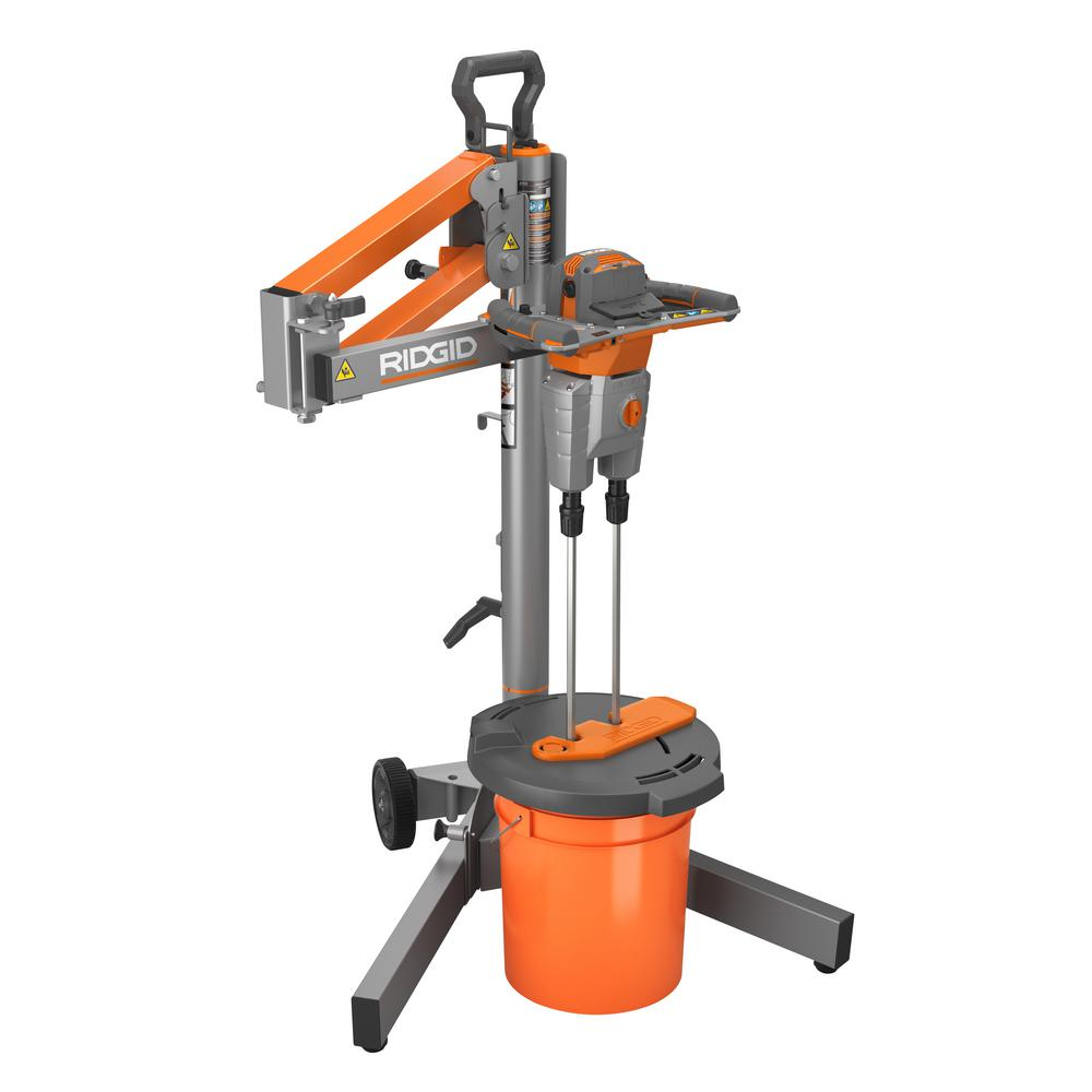 Ridgid dual paddle mixer with stand R7132
