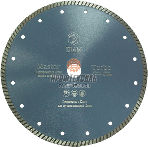 Алмазный диск для болгарки по бетону Diam Turbo Master 000158