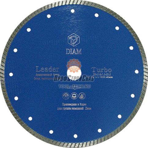 Алмазный диск для болгарки по железобетону Diam Turbo Leader 000114