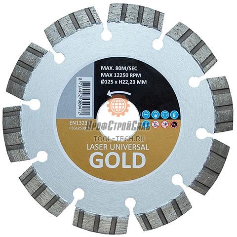 Диск алмазный универсальный Hitachi GOLD LASER WELDED BLADE FOR UNIVERSAL PURPOSE CEG1253010