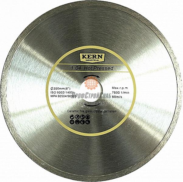 Алмазный диск Kern Hot Pressed Continuous Rim серия 1.04 K503200522
