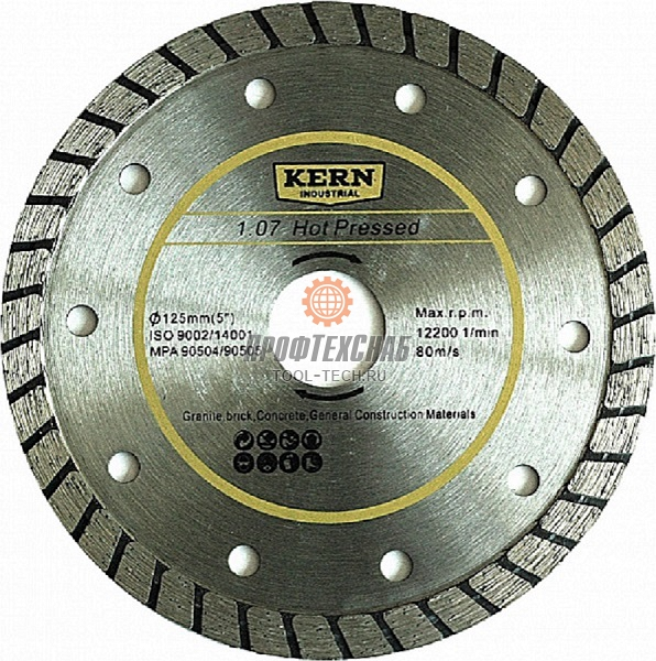 Алмазный диск Kern Hot Pressed Turbo серия 1.07 K506115820