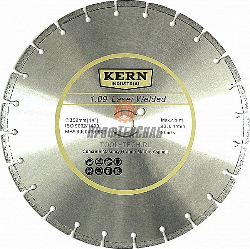 Алмазный диск Kern Laser Welded серия 1.09 352