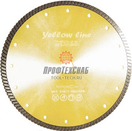 Алмазный диск по бетону Messer Yellow Line Beton Turbo 01-36-125