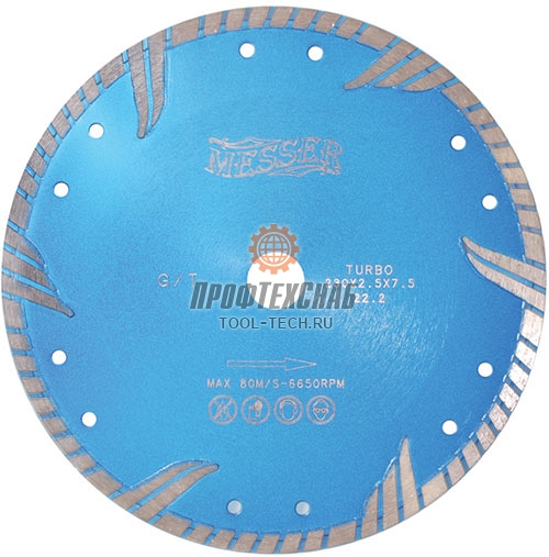 Алмазные диски по граниту Messer Turbo G/T 01-34-125