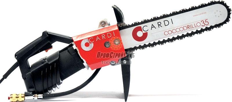 Электрическая алмазная цепная пила для резки бетона Cardi COCCODRILLO 35 CD35.35