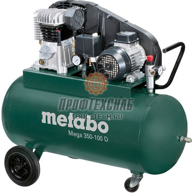 Компрессор масляный трехфазный Metabo Mega 350-100 D 601539000