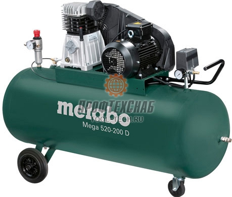 Компрессор ременной трехфазный Metabo Mega 520-200 D 601541000