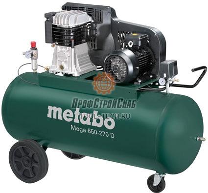 Компрессор поршневой Metabo Mega 650-270 D 601543000