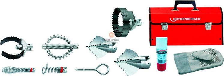 Набор насадок для прочистки труб Rothenberger L O 32 мм 72940