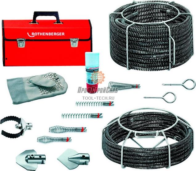 Набор прочистных спиралей и насадок Rothenberger STANDARD O 16 / 22 мм 072956X