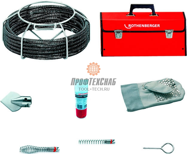 Набор прочистных спиралей и насадок Rothenberger STANDARD O 16 мм 072945X