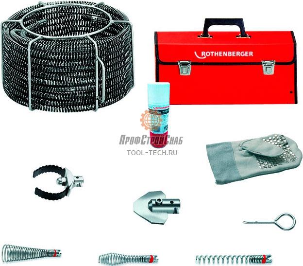 Набор спиралей и насадок для прочистки труб Rothenberger STANDARD O 22 мм 072955X