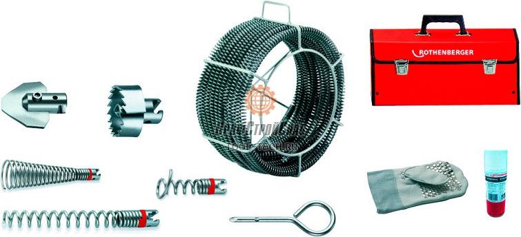 Набор спиралей и насадок для прочистки труб Rothenberger STANDARD O 32 мм 072962X