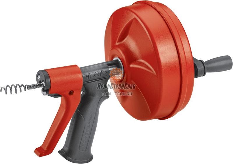Ручная вертушка с автоподачей для прочистки труб Ridgid POWER SPIN+ 57043