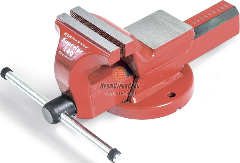 Тиски слесарные стальные поворотные с наковальней Ridgid Superior 140 10815