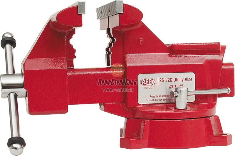 Тиски слесарные поворотные с наковальней Reed 24 1/2C 01522