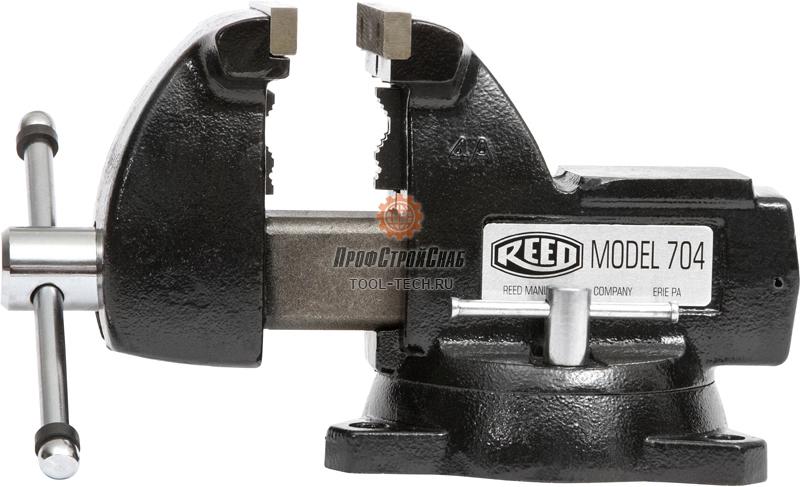 Тиски слесарные поворотные с наковальней Reed 704 01385
