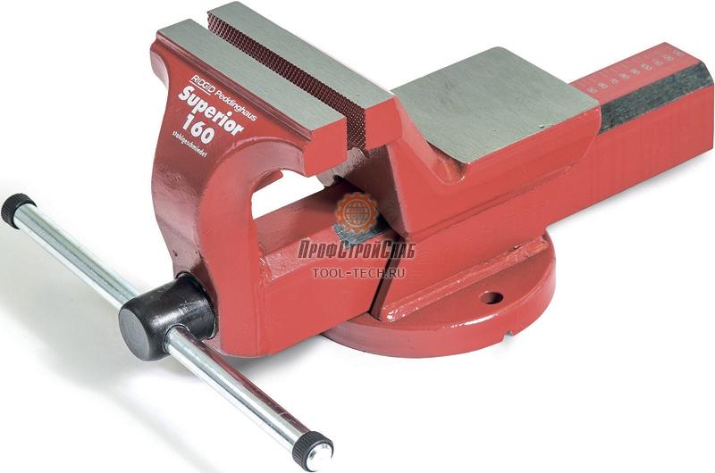 Тиски слесарные стальные поворотные с наковальней Ridgid Superior 160 10816