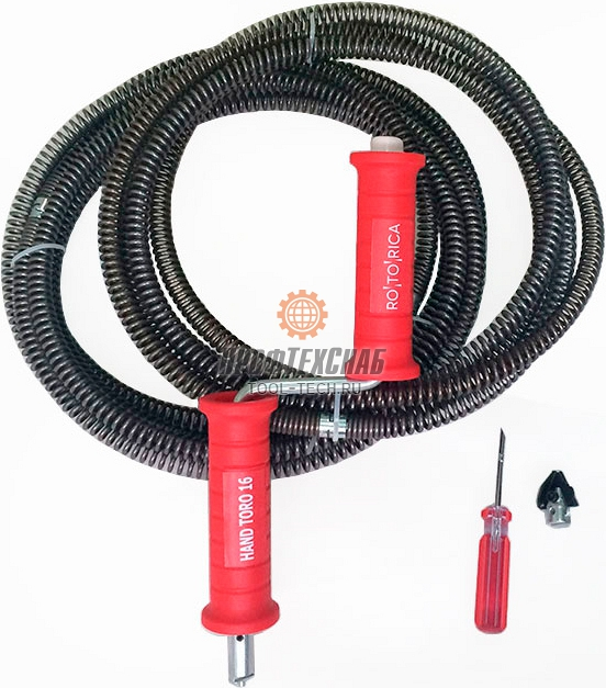 Трос сантехнический для прочистки канализации Rotorica HAND TORO 16 RT.1521692
