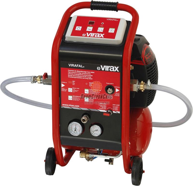 Установка для промывки теплообменников Virax VIRAFAL с инжектором и редуктором