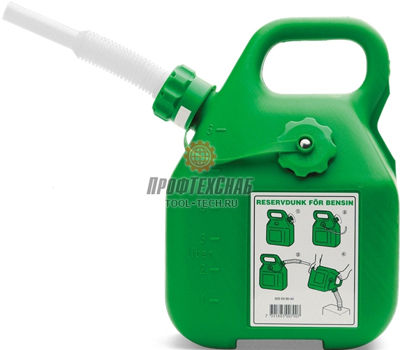 Зеленая канистра для бензина Husqvarna 5056980-40